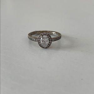 Vintage elegance sterling silver ring